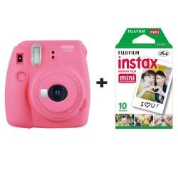 FUJI INSTAX MINI 9 Flamingo Pink + PELLICOLA 10 FOTO